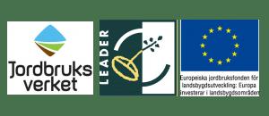 Logotyper - Jordbruksverket, Leader och Europeiska jordbruksfonden för landsbygdsutveckling