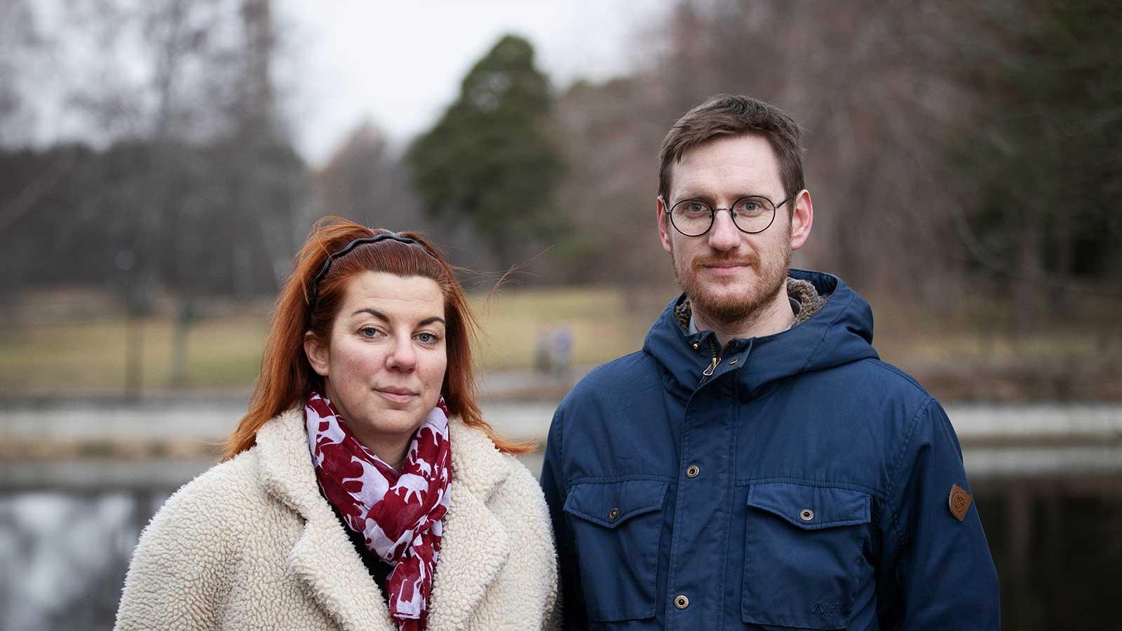Lina Andersson och Anderas Helgesson samtalar om Projekt socialt företagande i Gävleborg