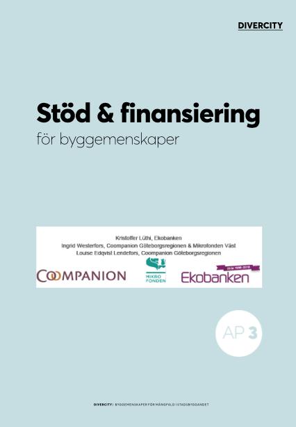 Bo- och byggemenskaper Stöd och finansiering för byggemenskaper Finansiering för byggemenskaper